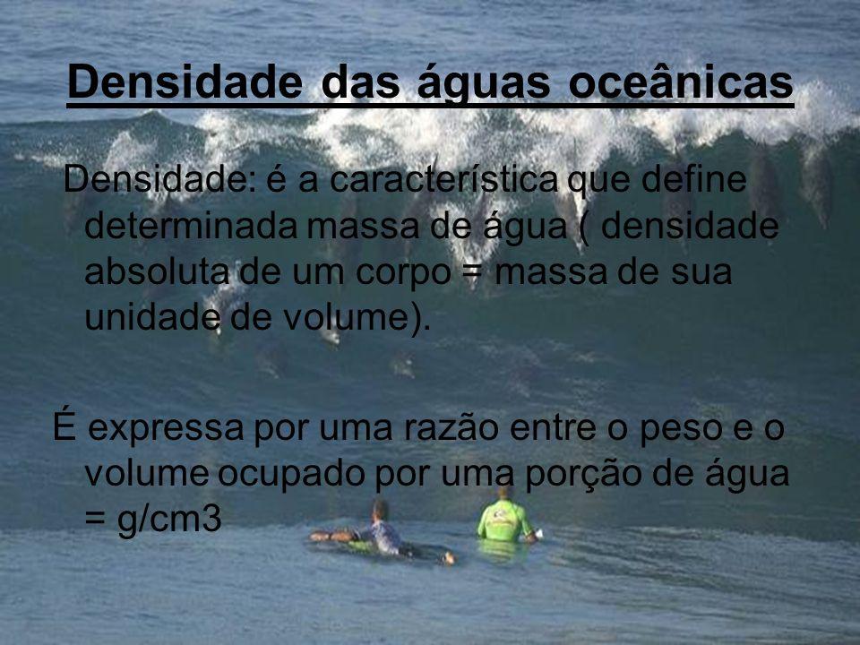 Densidade das águas oceânicas