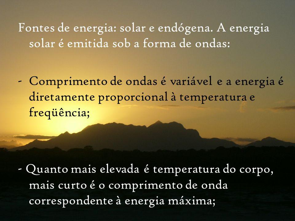 Fontes de energia: solar e endógena