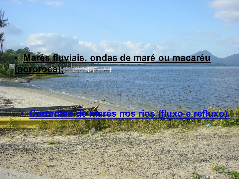 Marés fluviais, ondas de maré ou macaréu