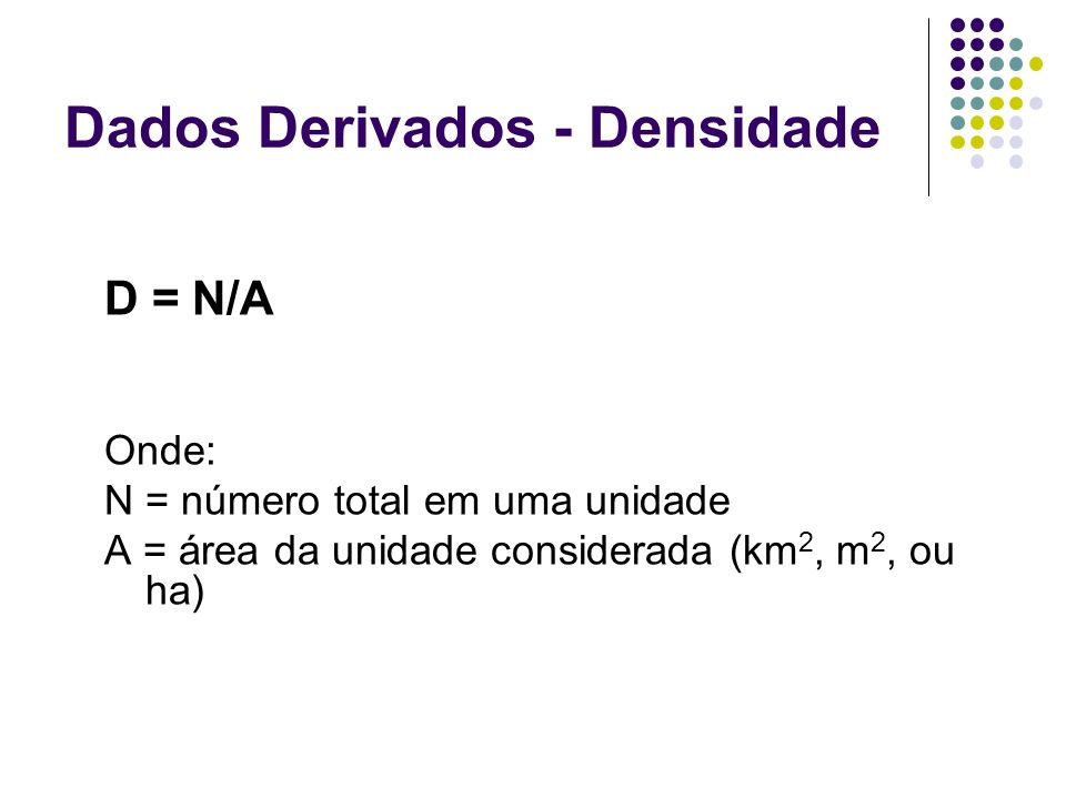 Dados Derivados - Densidade