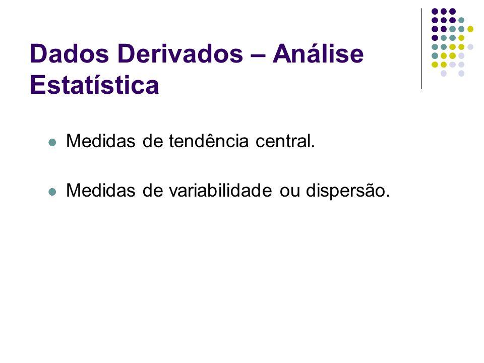 Dados Derivados – Análise Estatística