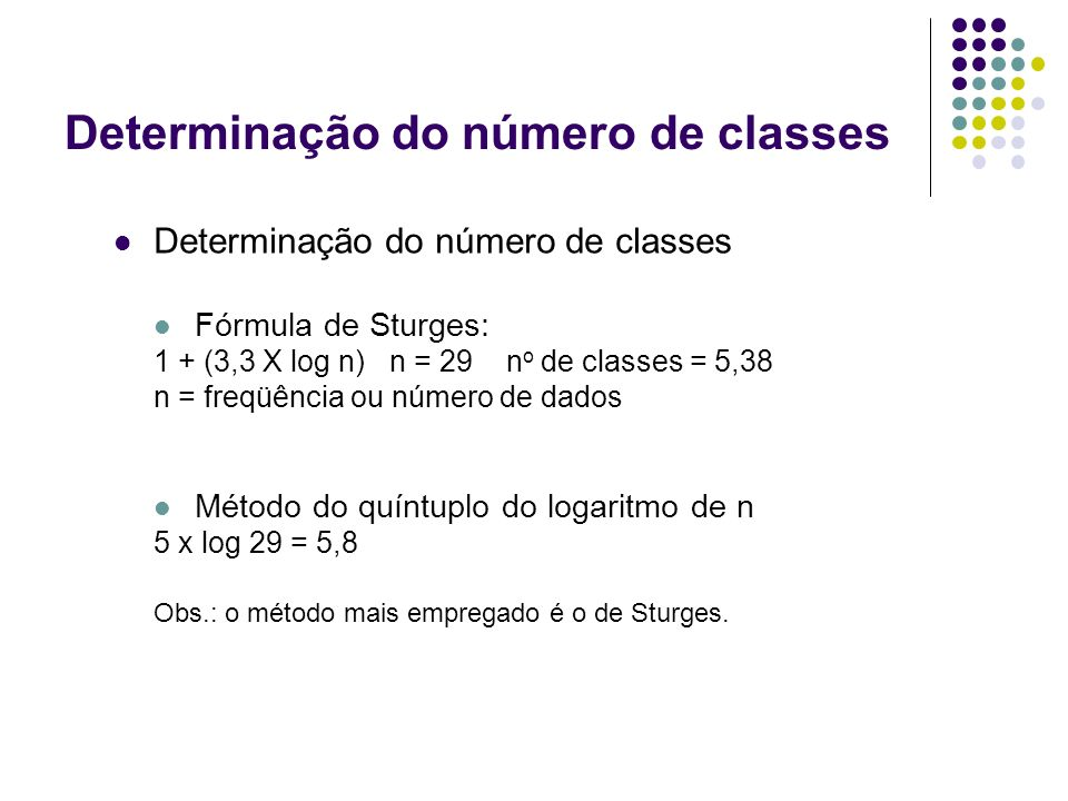 Determinação do número de classes