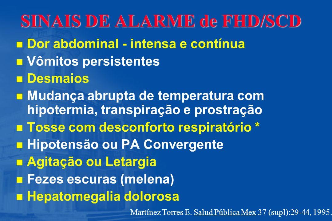 SINAIS DE ALARME de FHD/SCD