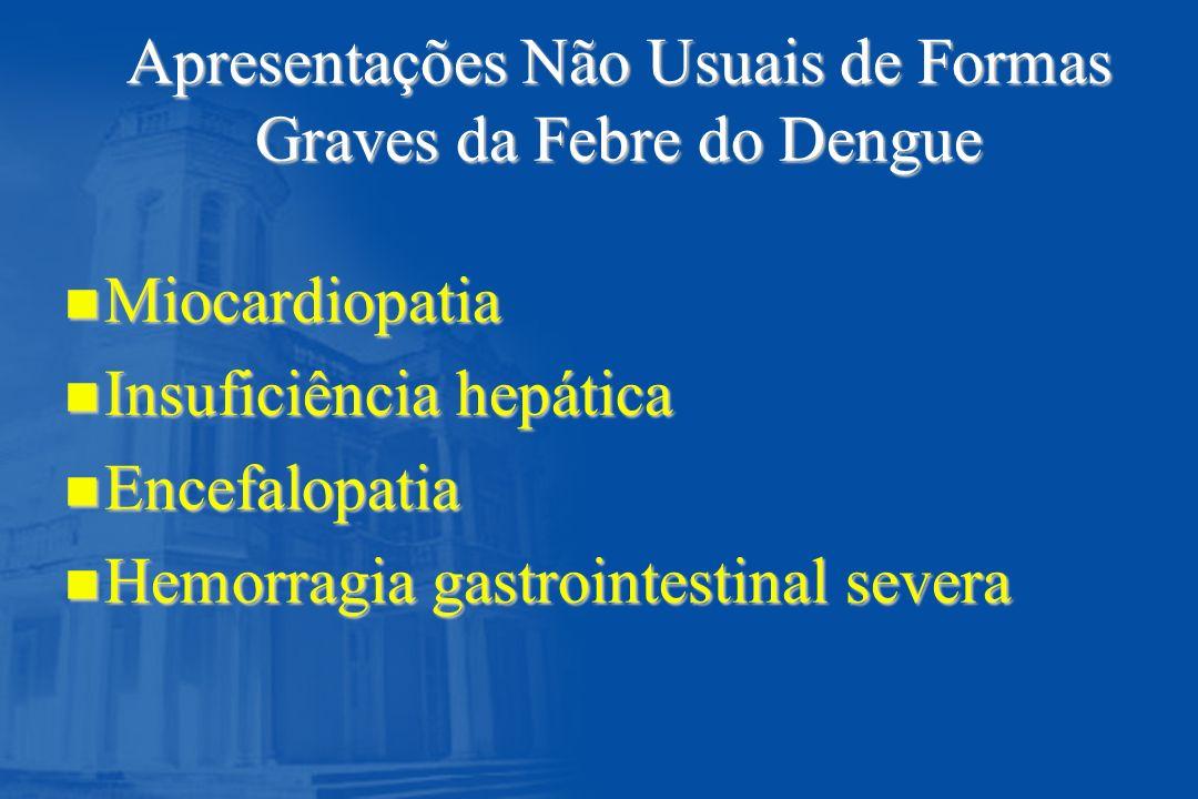 Apresentações Não Usuais de Formas Graves da Febre do Dengue