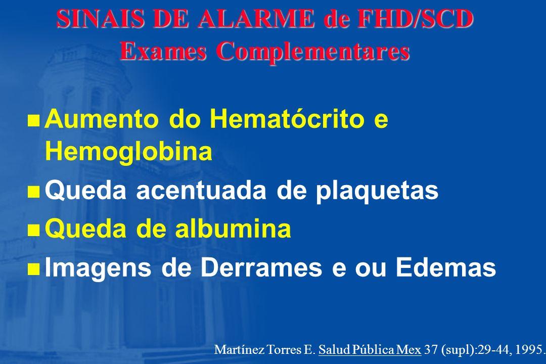 SINAIS DE ALARME de FHD/SCD Exames Complementares
