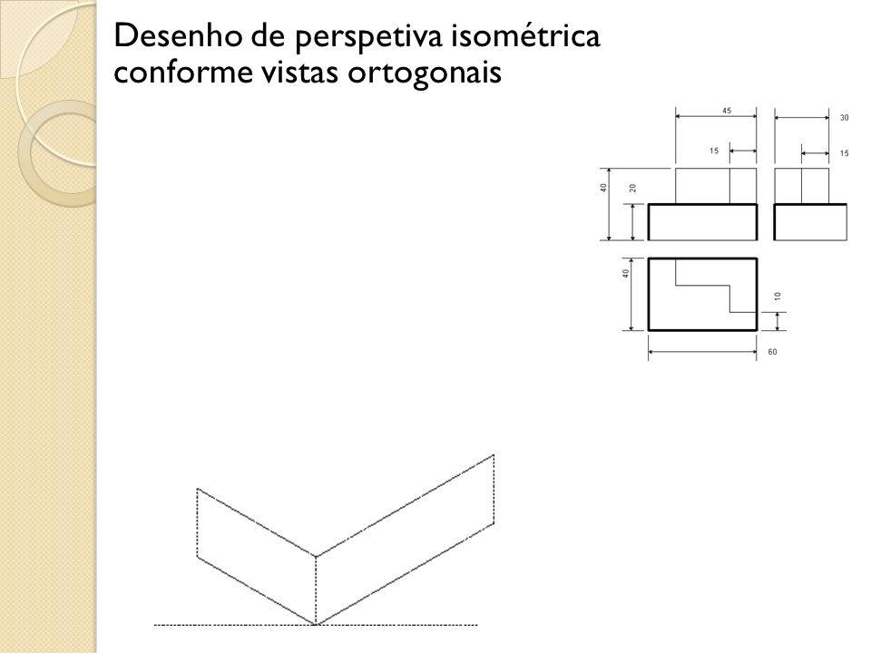 Desenho de perspetiva isométrica