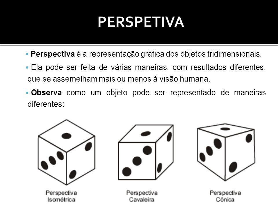 PERSPETIVA Perspectiva é a representação gráfica dos objetos tridimensionais.