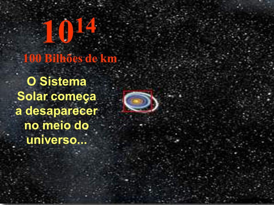 O Sistema Solar começa a desaparecer no meio do universo...