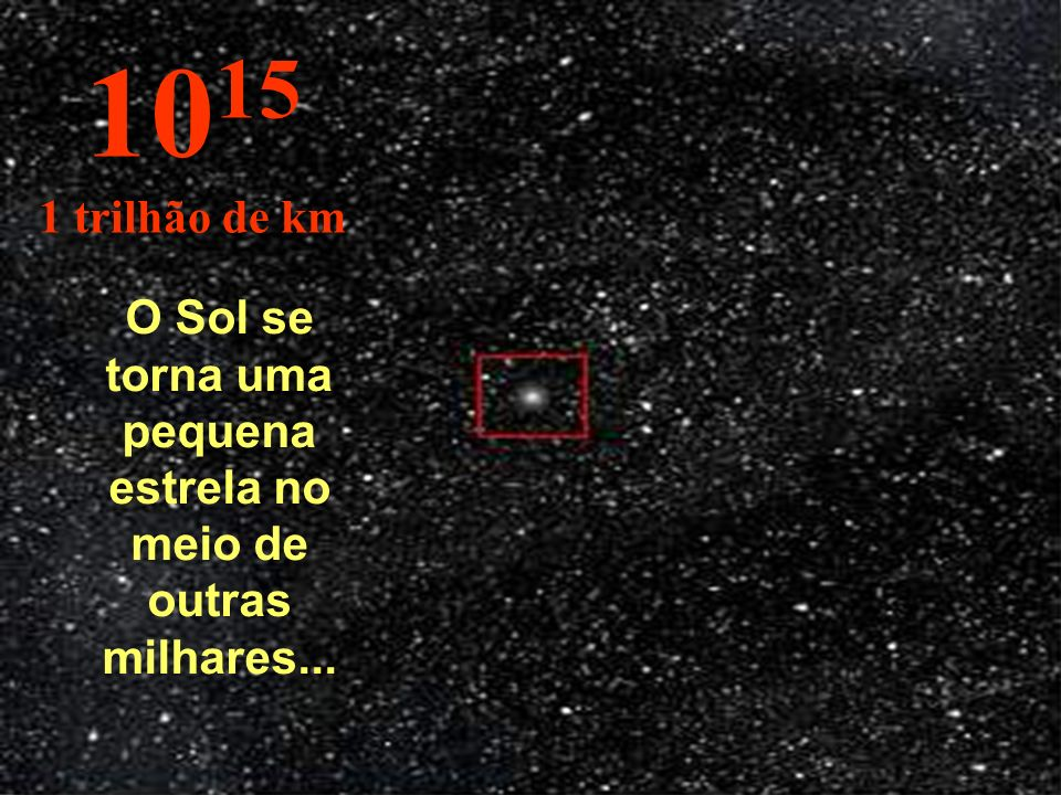 O Sol se torna uma pequena estrela no meio de outras milhares...
