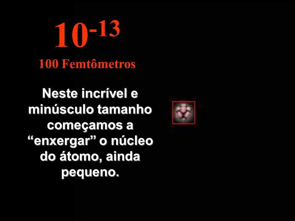 10-13 100 Femtômetros.
