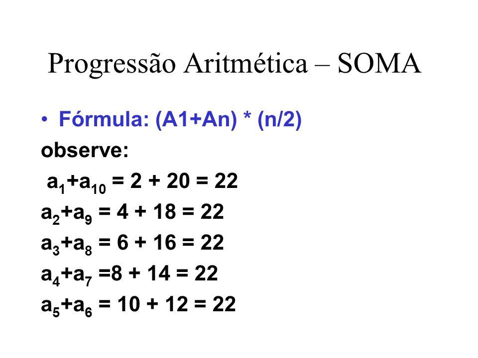 Progressão Aritmética – SOMA