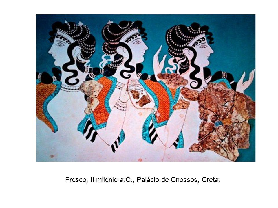 Fresco, II milénio a.C., Palácio de Cnossos, Creta.