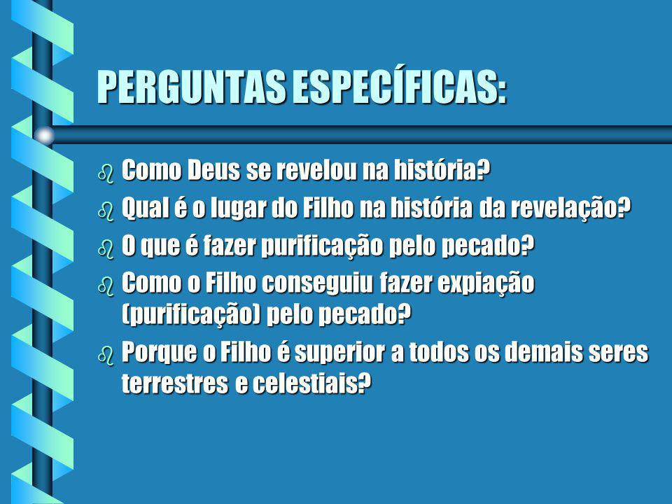 PERGUNTAS ESPECÍFICAS: