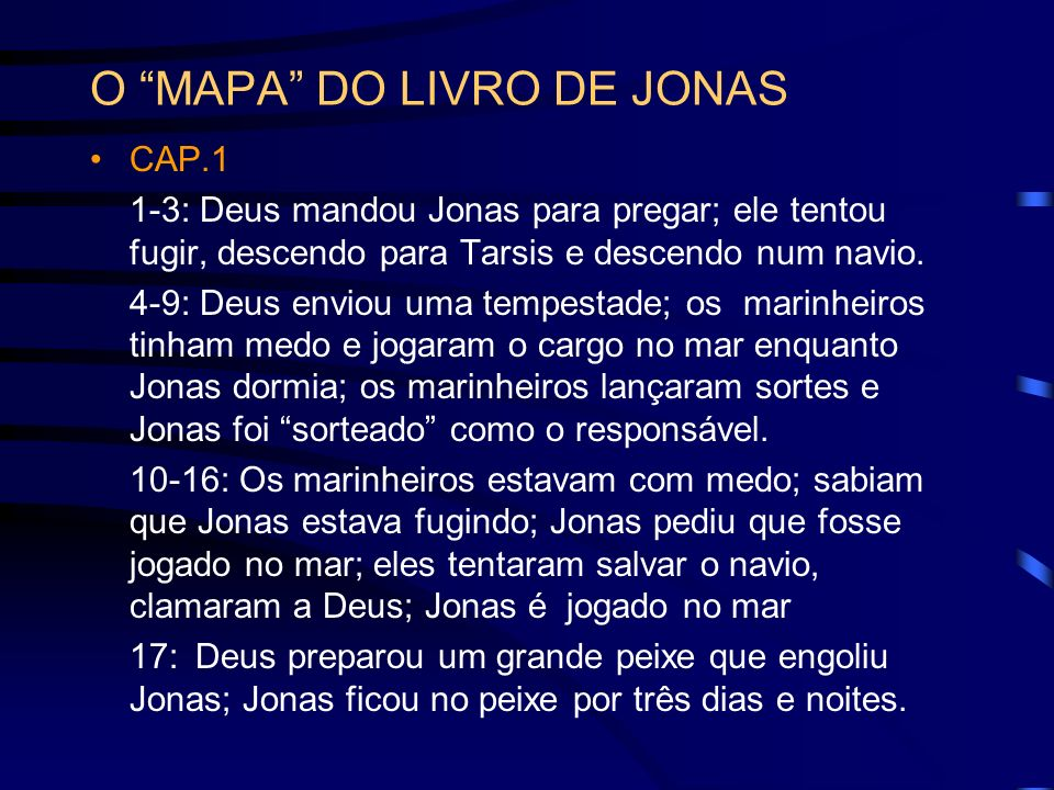 O MAPA DO LIVRO DE JONAS