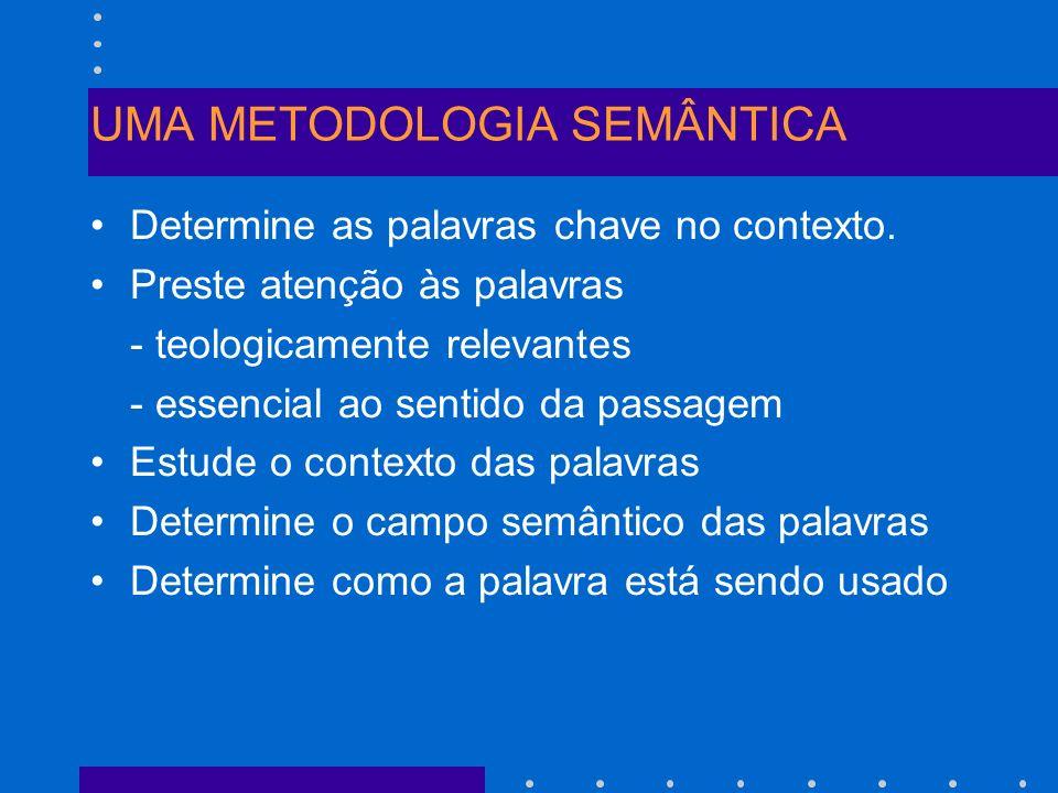 UMA METODOLOGIA SEMÂNTICA
