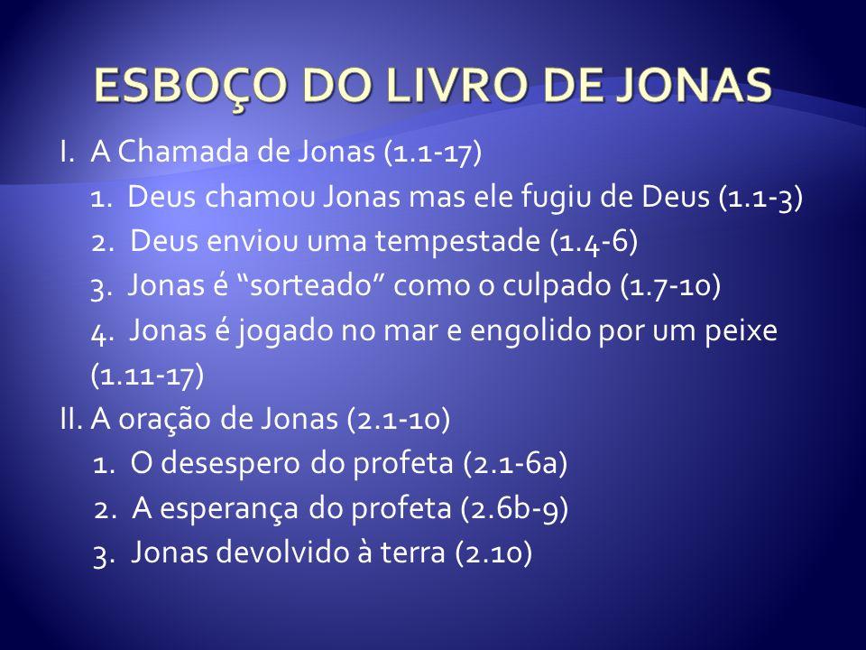 ESBOÇO DO LIVRO DE JONAS
