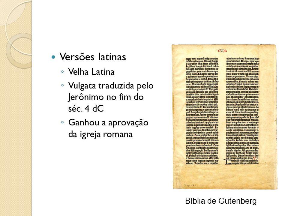 Versões latinas Velha Latina