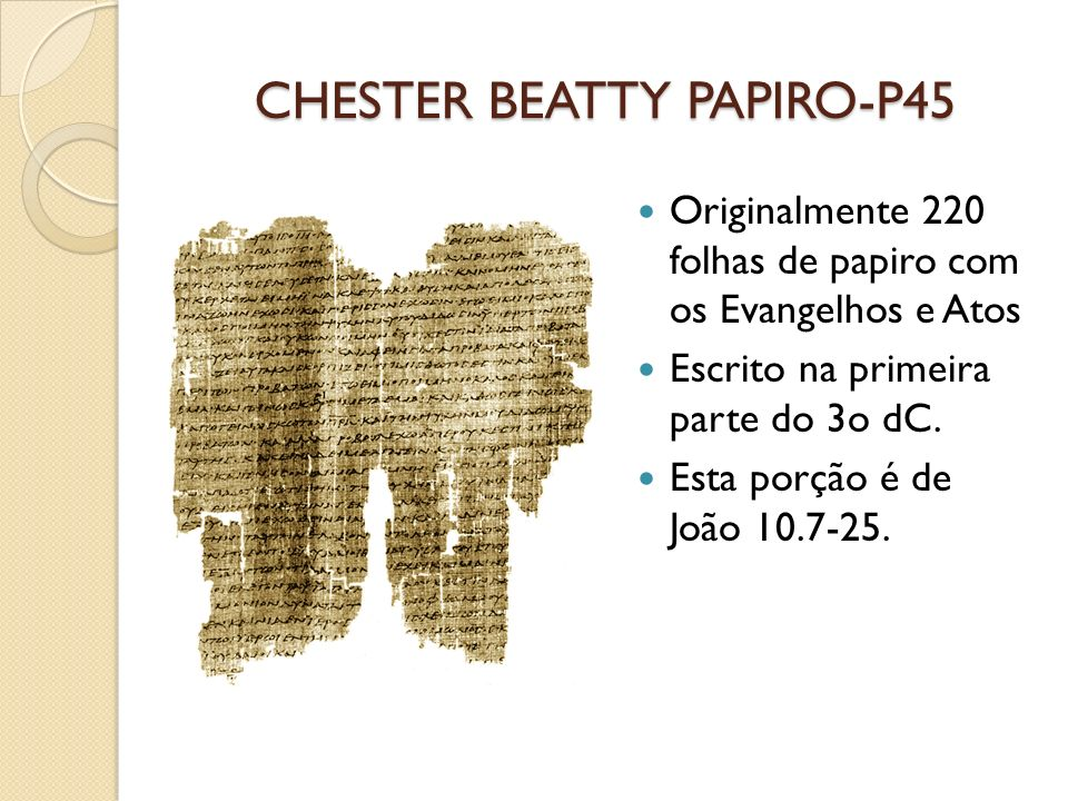 CHESTER BEATTY PAPIRO-P45
