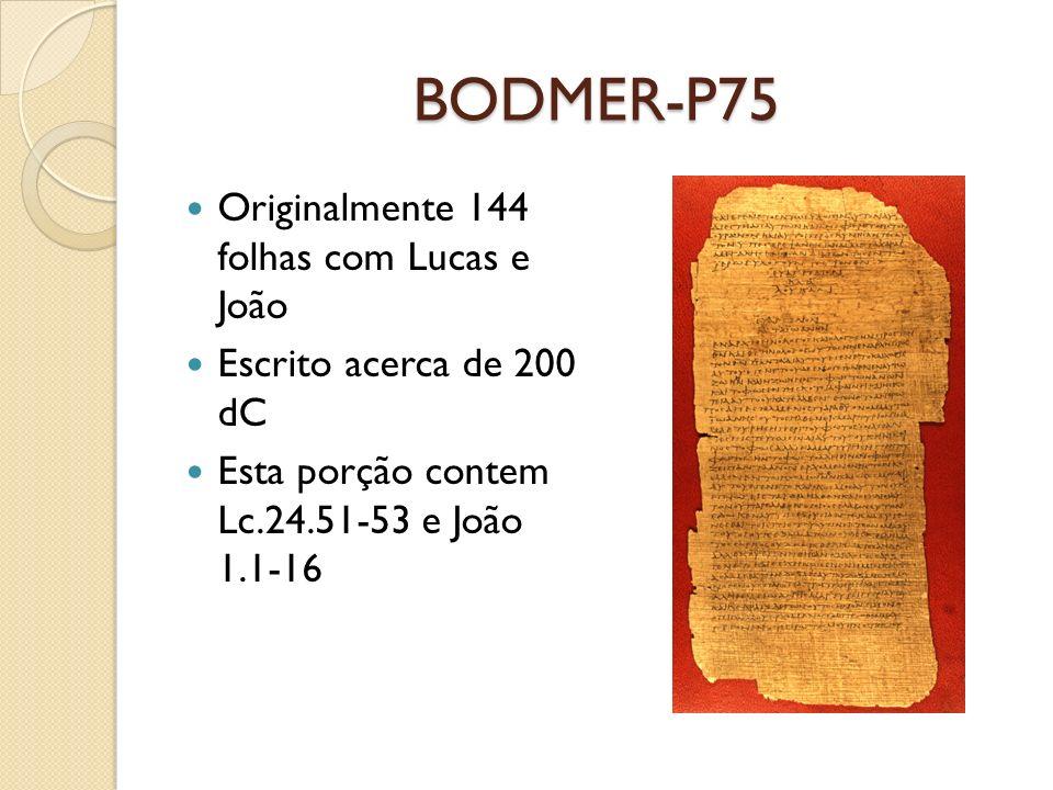 BODMER-P75 Originalmente 144 folhas com Lucas e João
