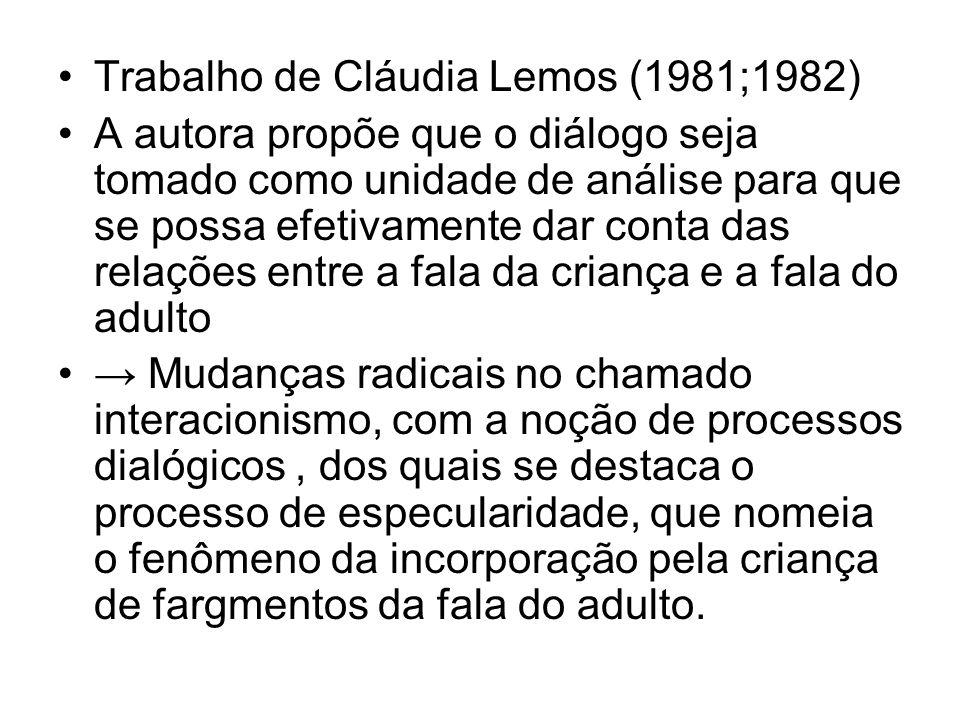 Trabalho de Cláudia Lemos (1981;1982)