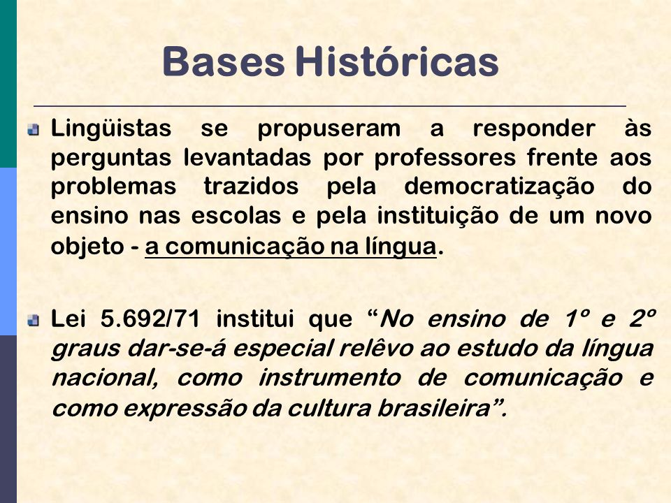 Bases Históricas