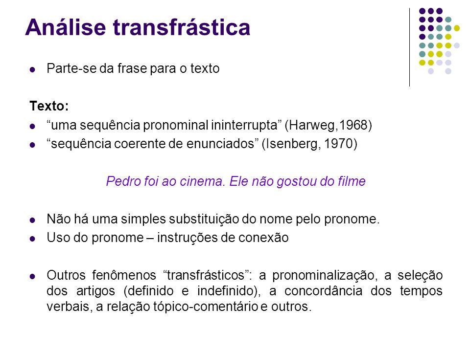 Análise transfrástica