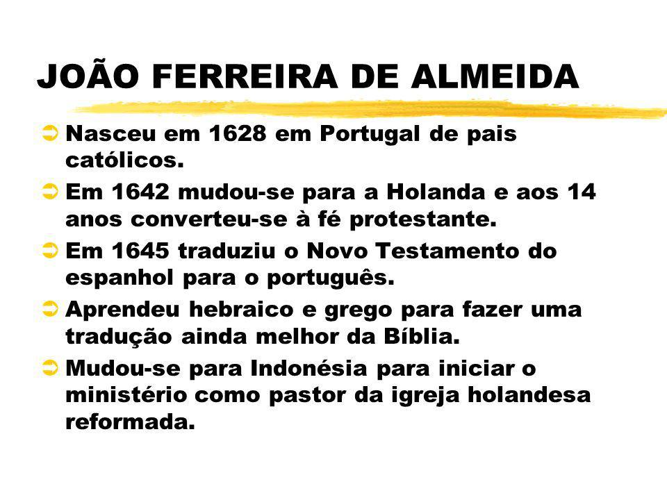 JOÃO FERREIRA DE ALMEIDA