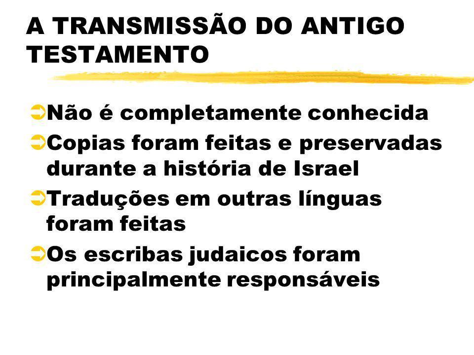 A TRANSMISSÃO DO ANTIGO TESTAMENTO
