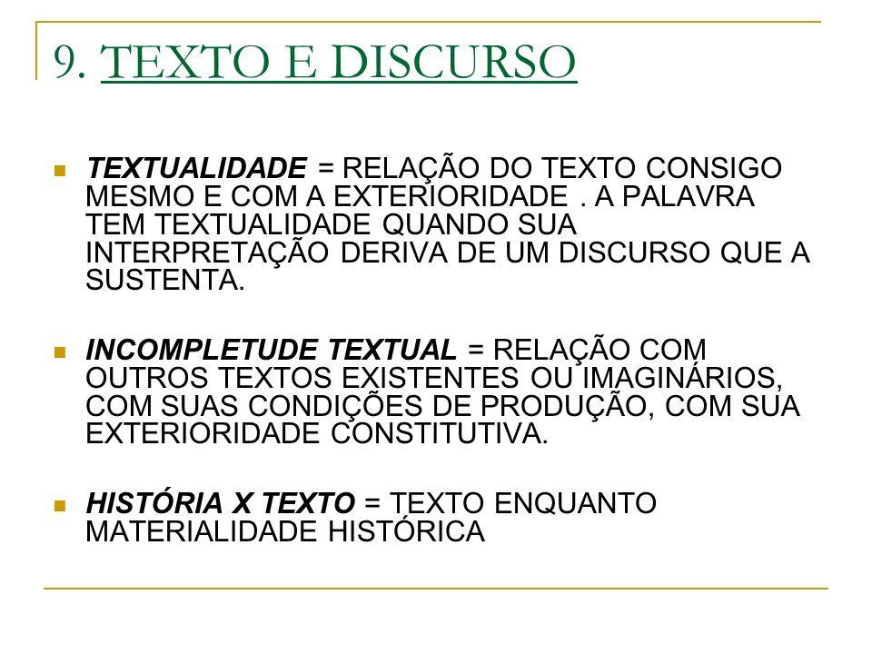9. TEXTO E DISCURSO