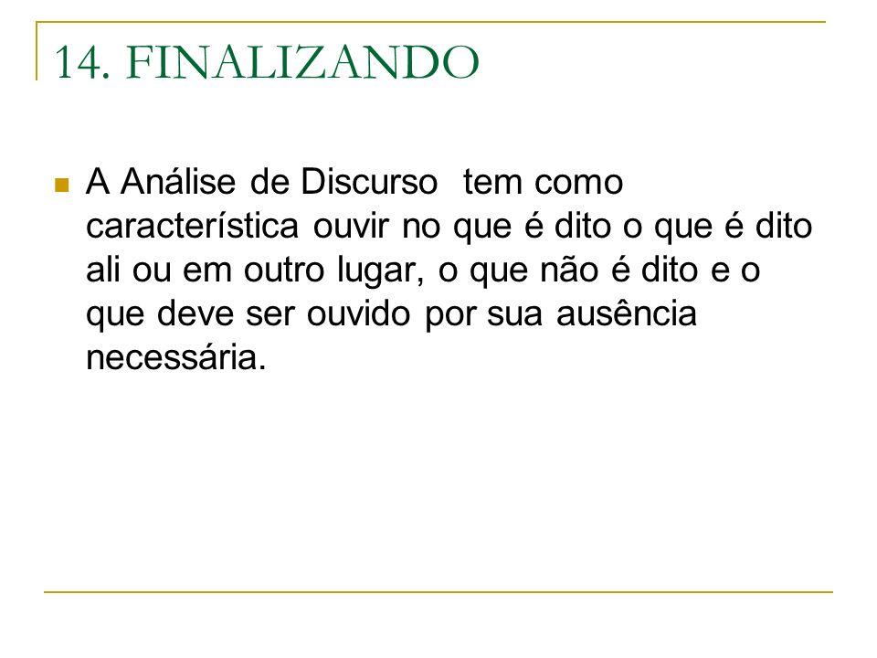 14. FINALIZANDO