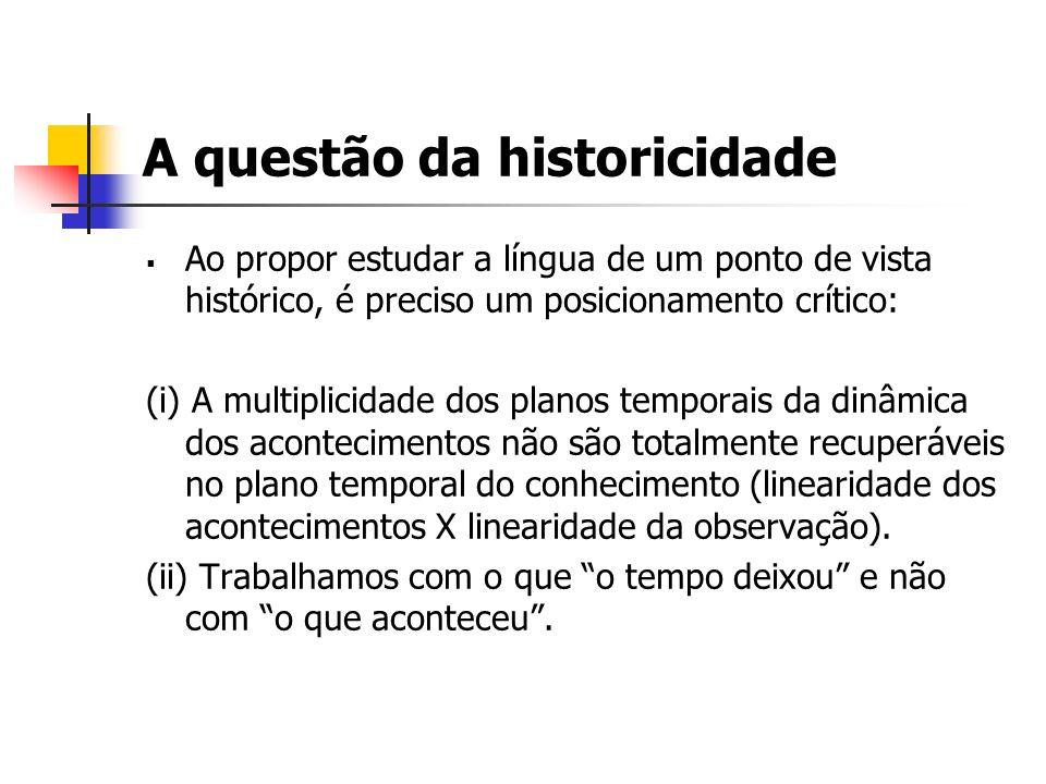 A questão da historicidade