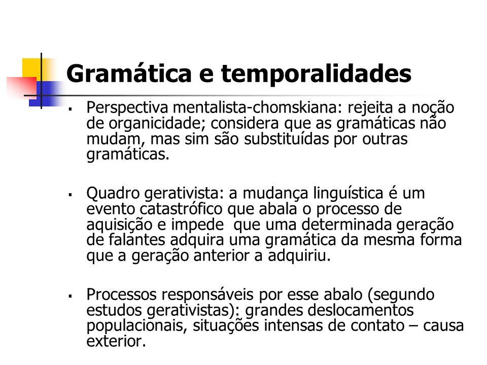 Gramática e temporalidades