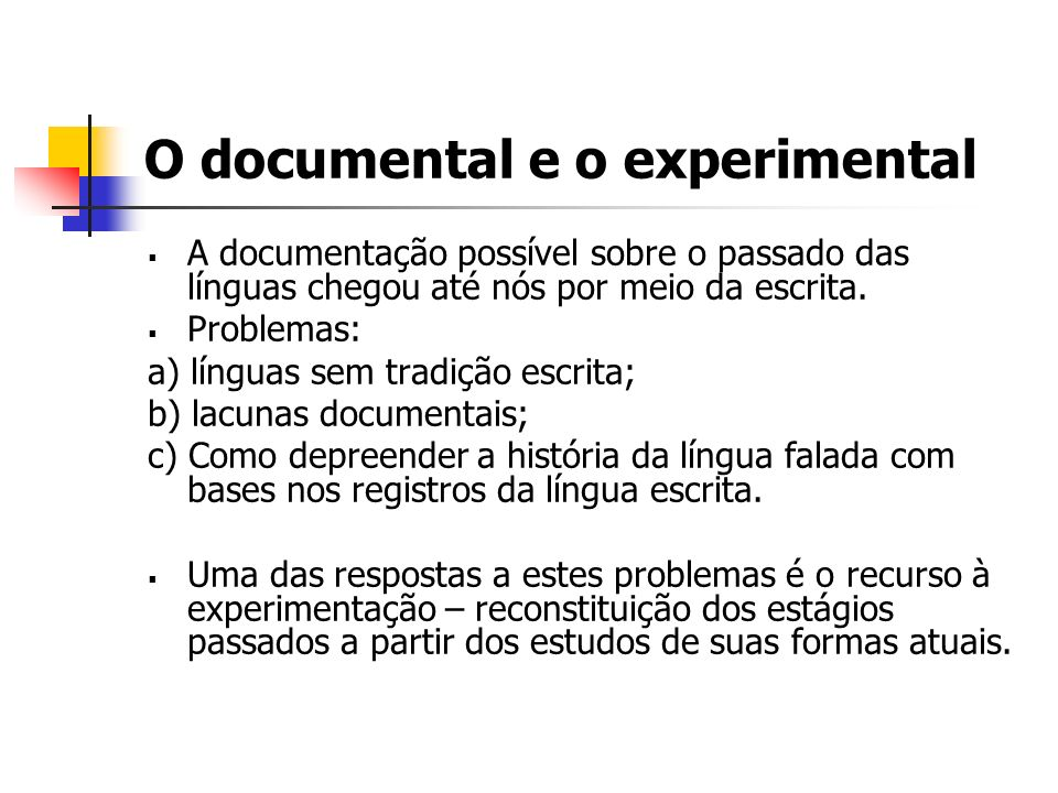 O documental e o experimental