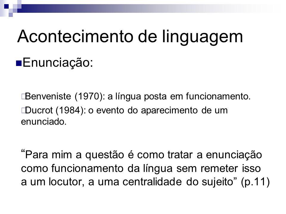Acontecimento de linguagem