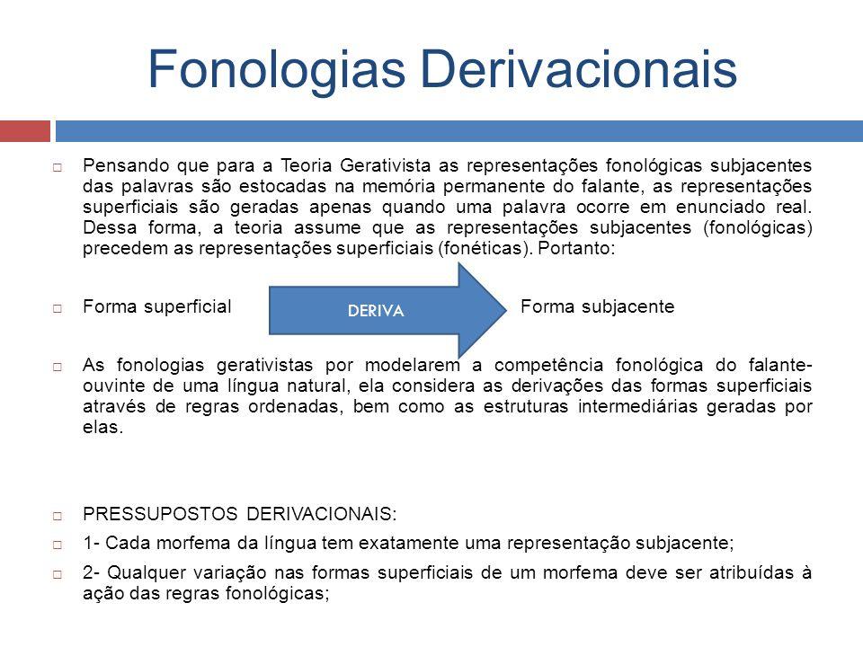 Fonologias Derivacionais