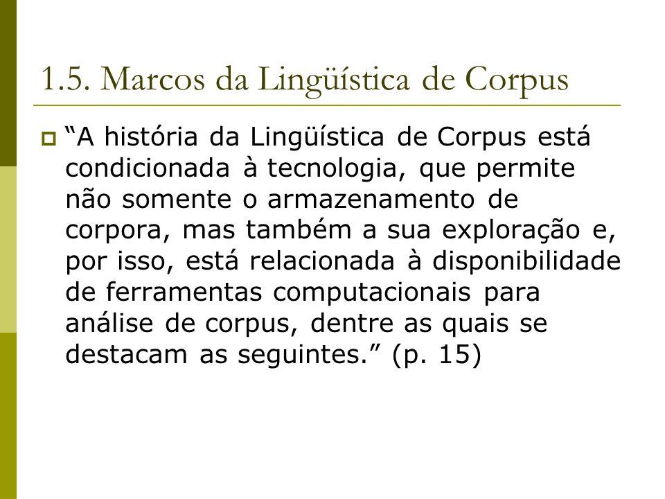 1.5. Marcos da Lingüística de Corpus