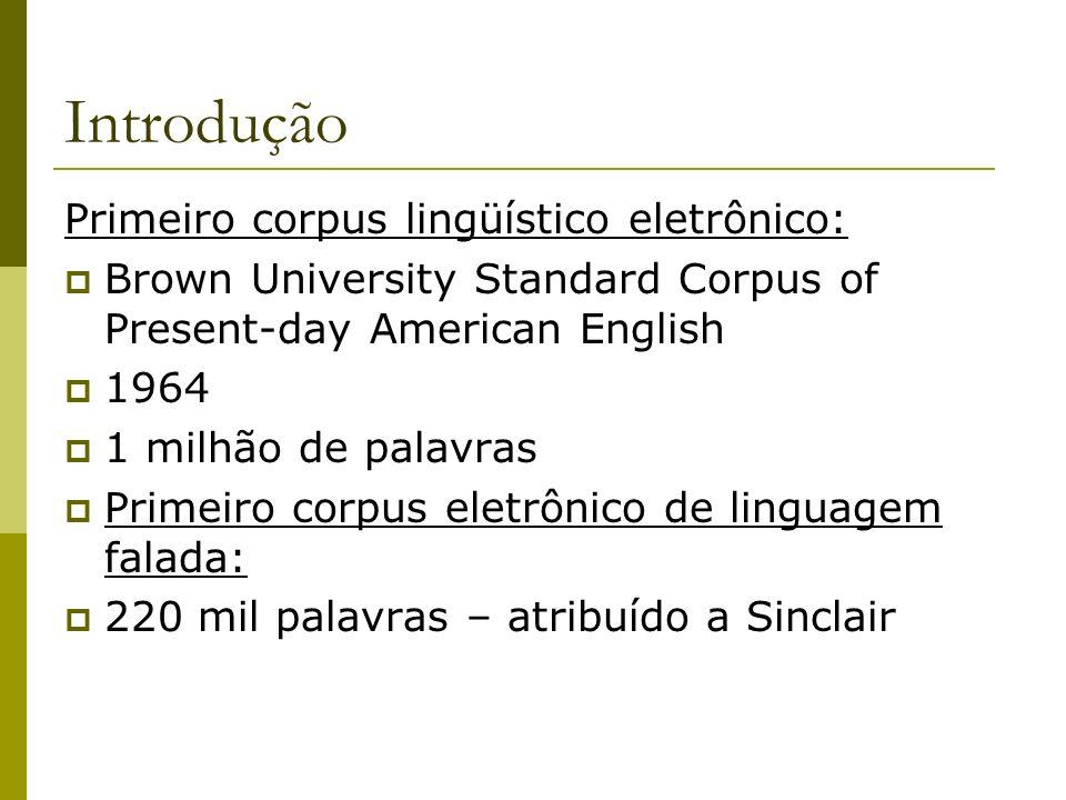Introdução Primeiro corpus lingüístico eletrônico: