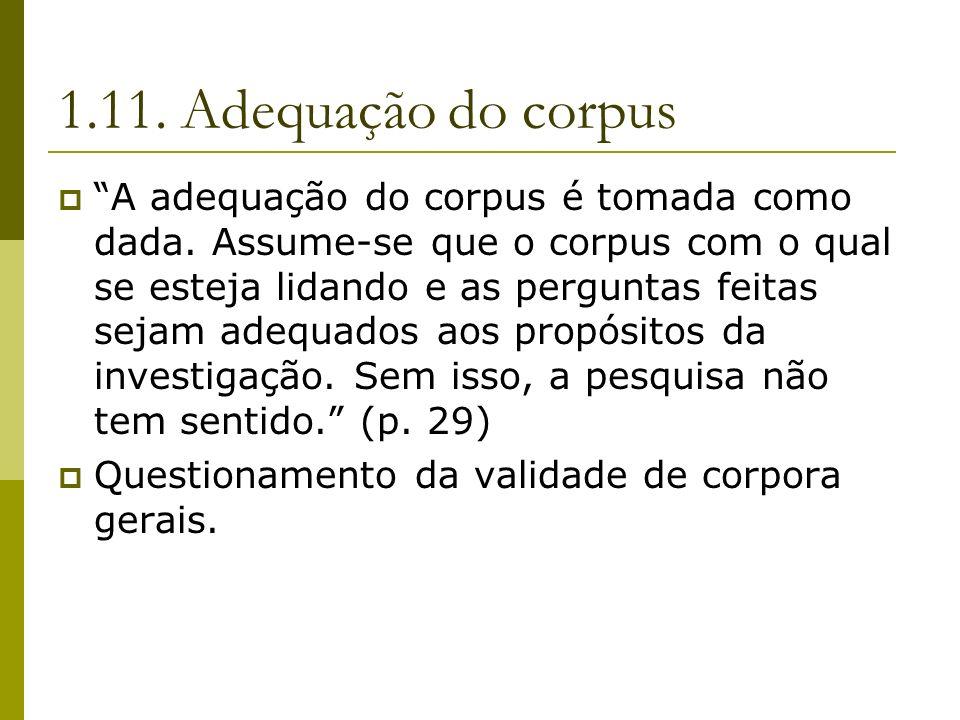 1.11. Adequação do corpus