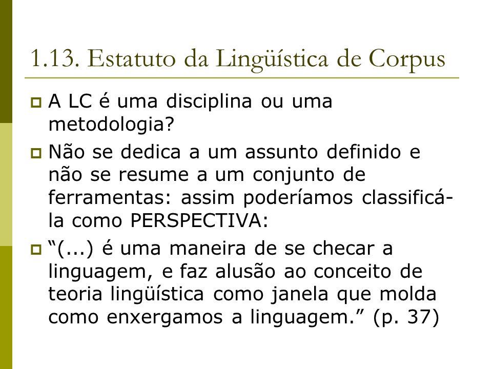 1.13. Estatuto da Lingüística de Corpus