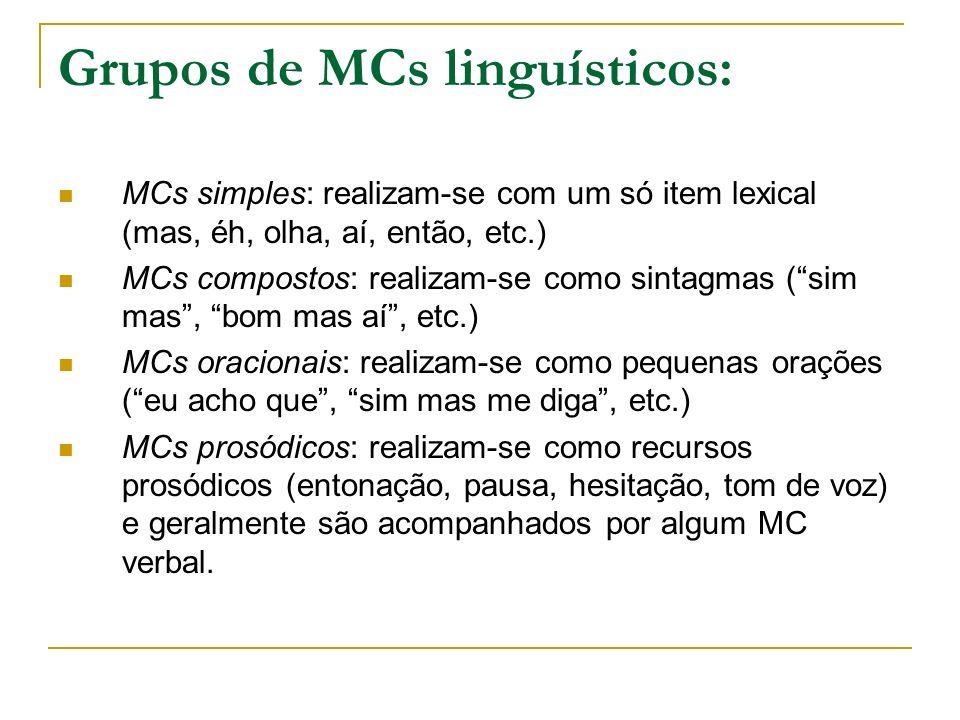 Grupos de MCs linguísticos: