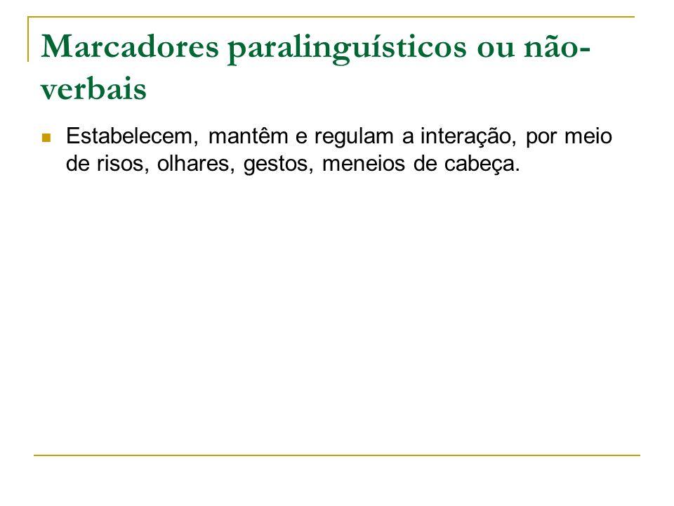 Marcadores paralinguísticos ou não-verbais