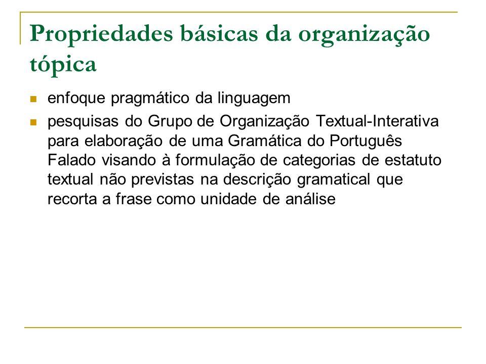 Propriedades básicas da organização tópica