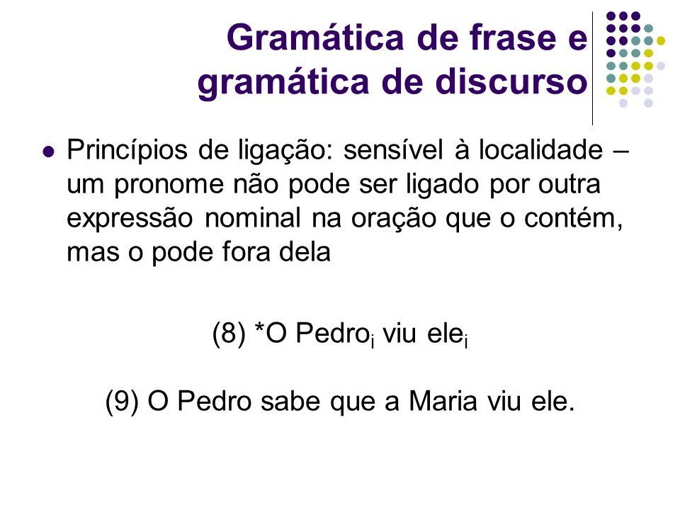 Gramática de frase e gramática de discurso