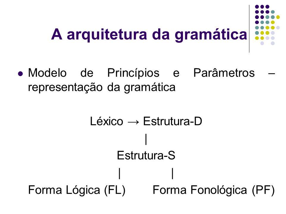 A arquitetura da gramática
