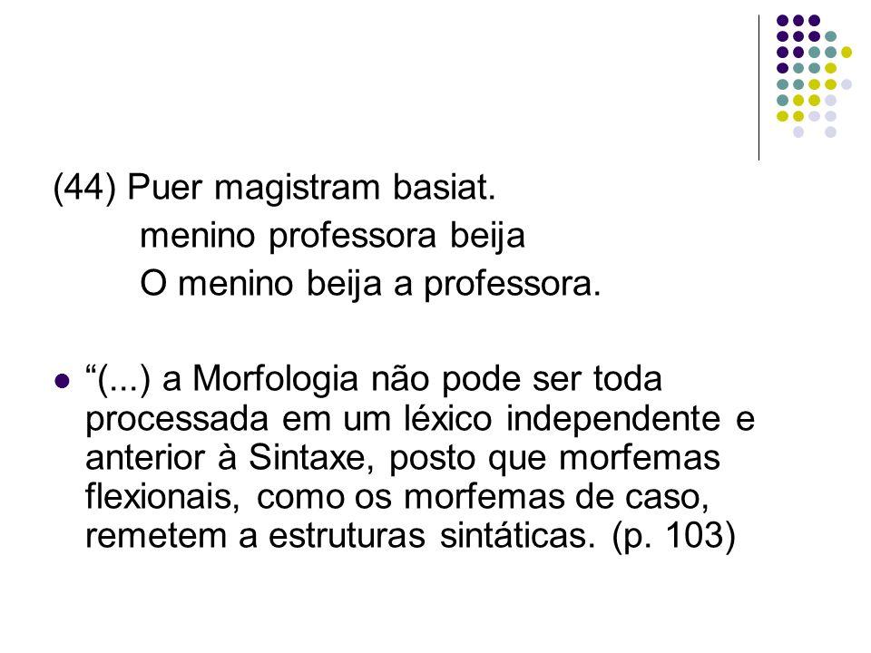 (44) Puer magistram basiat.