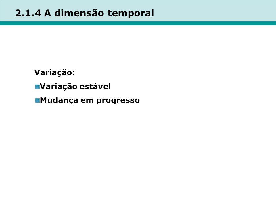 2.1.4 A dimensão temporal Variação: Variação estável