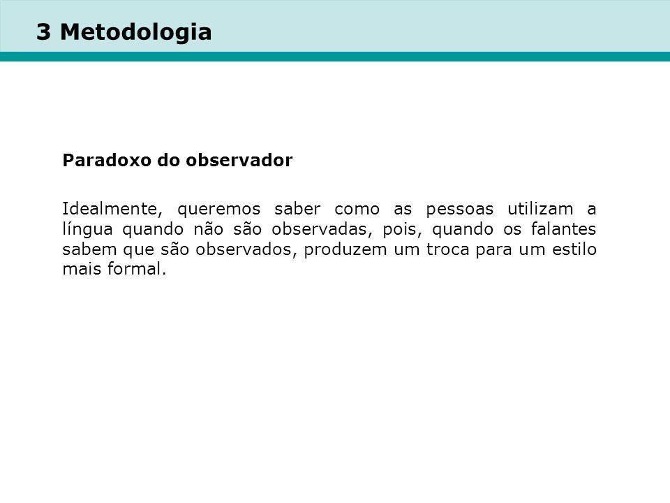 3 Metodologia Paradoxo do observador