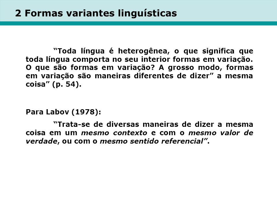 2 Formas variantes linguísticas