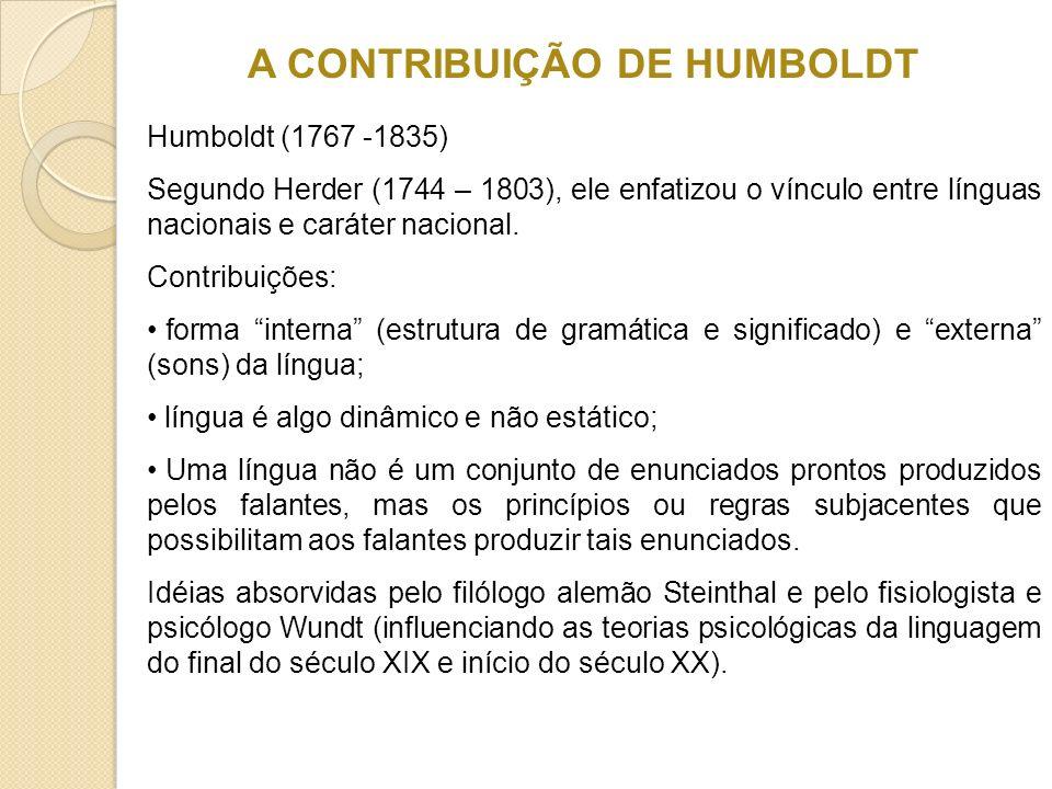 A CONTRIBUIÇÃO DE HUMBOLDT