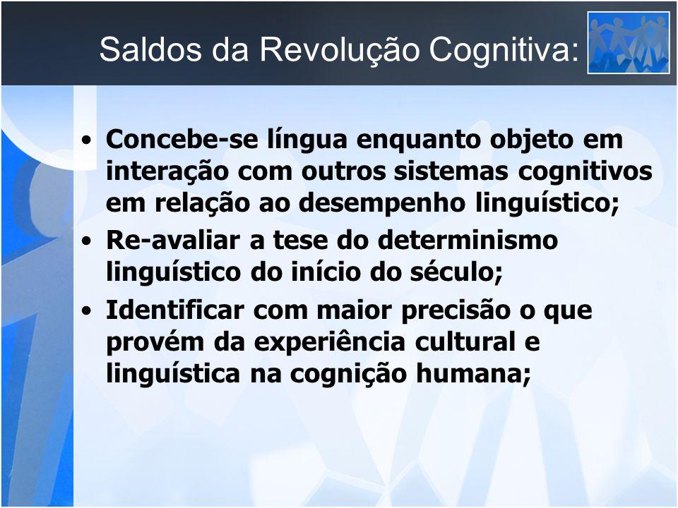 Saldos da Revolução Cognitiva: